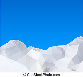 Abstract winter mountains