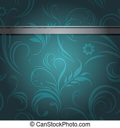 Sea green ornamental background - Dark sea green ornamental...