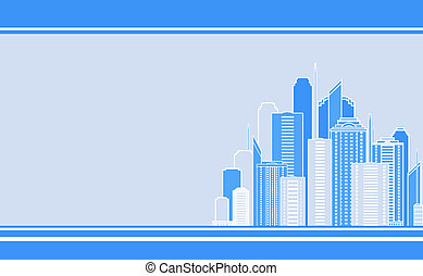 business card with city landscape