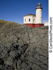 Coquille River Lighthouse - The rocky base jetty it sits on...