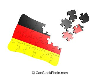 Germany flag puzzle