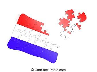 Thai flag puzzle