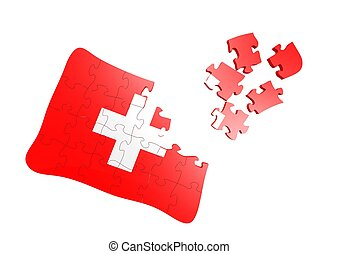 Swiss Flag Puzzle
