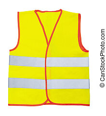 Safety vest isolated on the white background