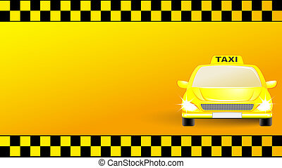 business card with taxi car