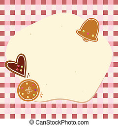 Christmas blank background with dough and cookies - Retro...