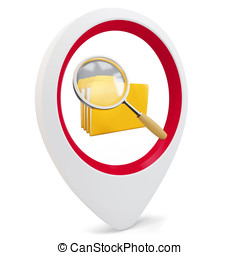 3d round pointer with file search