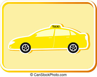 icon with taxi car