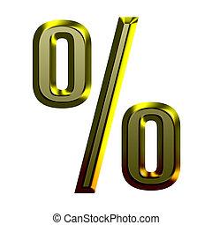 3d Golden font illustration