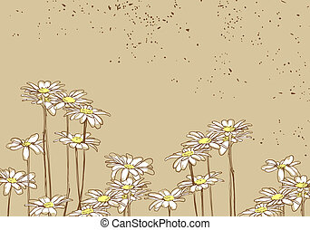 Flowers - Beautiful floral background on brown