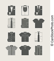 Menswear Icon set Vector illustration