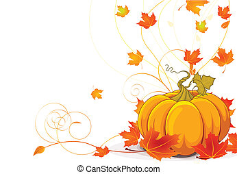Autumn place card - Autumn place card background with copy...