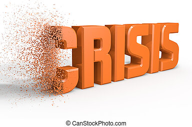 Crisis - Written crisis eroded by a side
