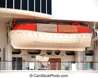 Small Lifeboat on a Big Ship