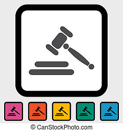 Auction icon - Auction gavel icon Vector illustration