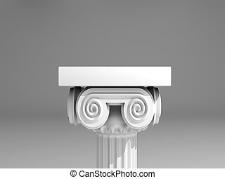Ancient column - Close up of roman column - 3d render