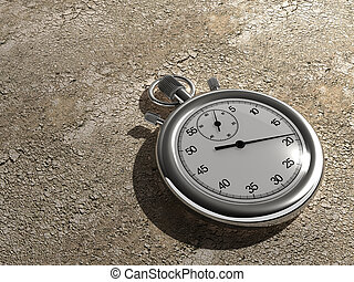 Time passing - Close up of a chronometer on ground -...