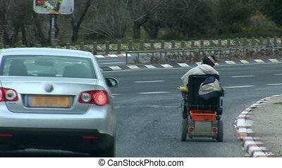 wheelchair   - wheelchair rides on the highway