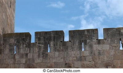 Tower of David in Jerusalem c - ancient battlement - part of...
