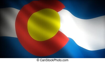 Flag of Colorado seamless
