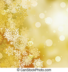 Festive gold Christmas with bokeh lights. EPS 8 - Festive...