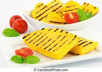grilled polenta  - polenta