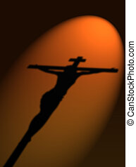 Jesus crucified - Shadow of Jesus on cross