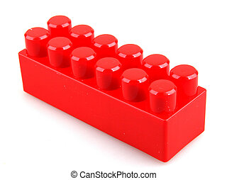 Plastic toy blocks.