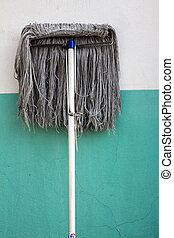 dirty mop