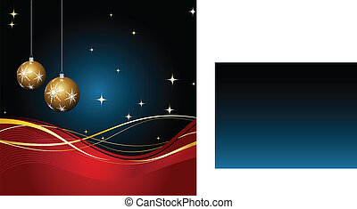 Christmas decorations - Christmas decoration on the gradient...