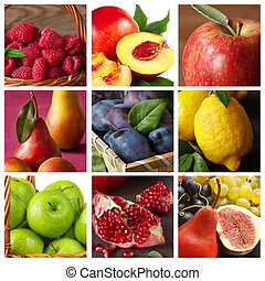 Collection of fruit.