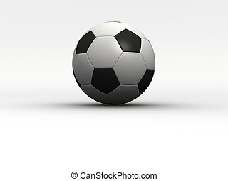 Soccer ball - A soccer ball  - rendered in 3d