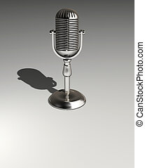 Microphone - A chromed microphone - rendered in 3d