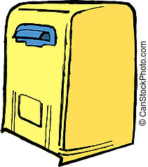 mailbox - Illustration of the mailbox on white background