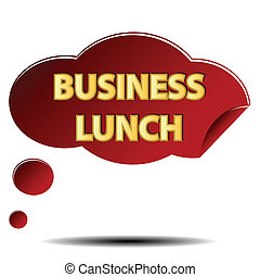 Business lunch logo on a white background