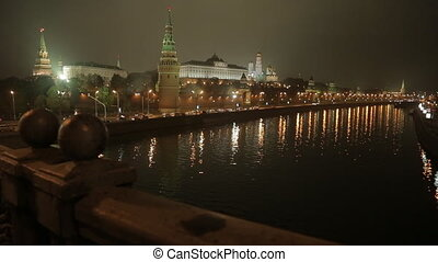 night Kremlin Embankment slider - night view on the Kremlin...