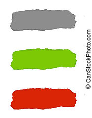 Torn Paper With Color Background - 3 Color Torn Paper With...