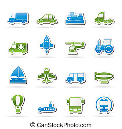 transportation icons - Different kind of transportation...