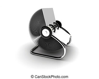 Rolodex 3 - A blank white rolodex - rendered in 3d