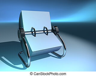 Rolodex 4 - A blank rolodex  - rendered in 3d