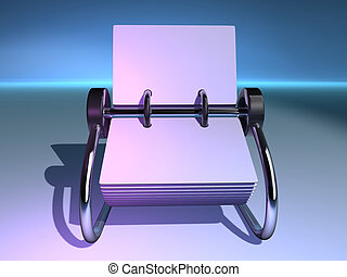 Rolodex 5 - A blank rolodex - rendered in 3d