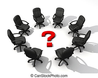 Question meeting - Office chairs in circle and a question...