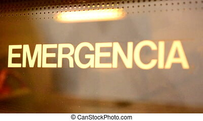 Emergency - emergencia