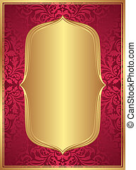 red gold background