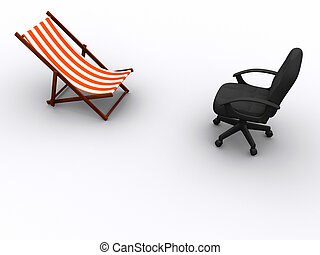 Work and relax chairs - Face to face sun lounge and office...