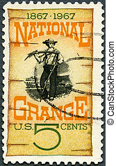 USA - CIRCA 1967: A stamp printed in USA shows Grange...