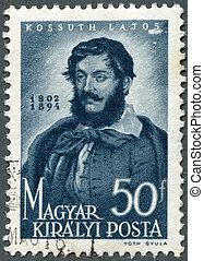 HUNGARY - 1944: shows Louis (Lajos) Kossuth (1802-1894) -...