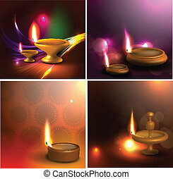 3d diya design for festival design