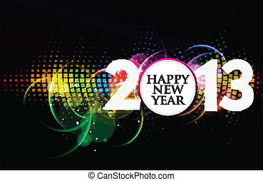 new year 2013 design vector element