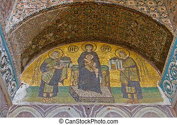 A Mosaic in Hagia Sophia
